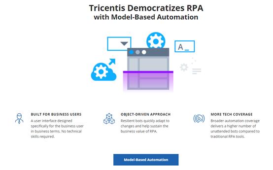 "Tricentis发布新版RPA,内置150种主流技术"""
