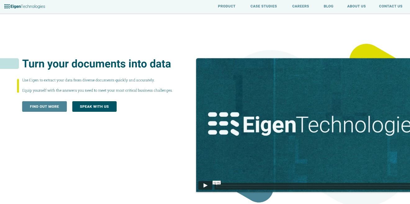 """通过机器学习自动提取非结构化文本信息,Eigen获得B轮3700万美元融资"""""""