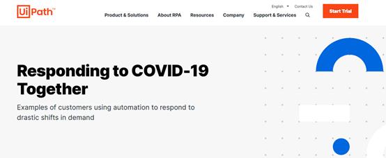 "UiPath免费为医疗机构提供RPA服务,已积累30多个COVID-19用例"""