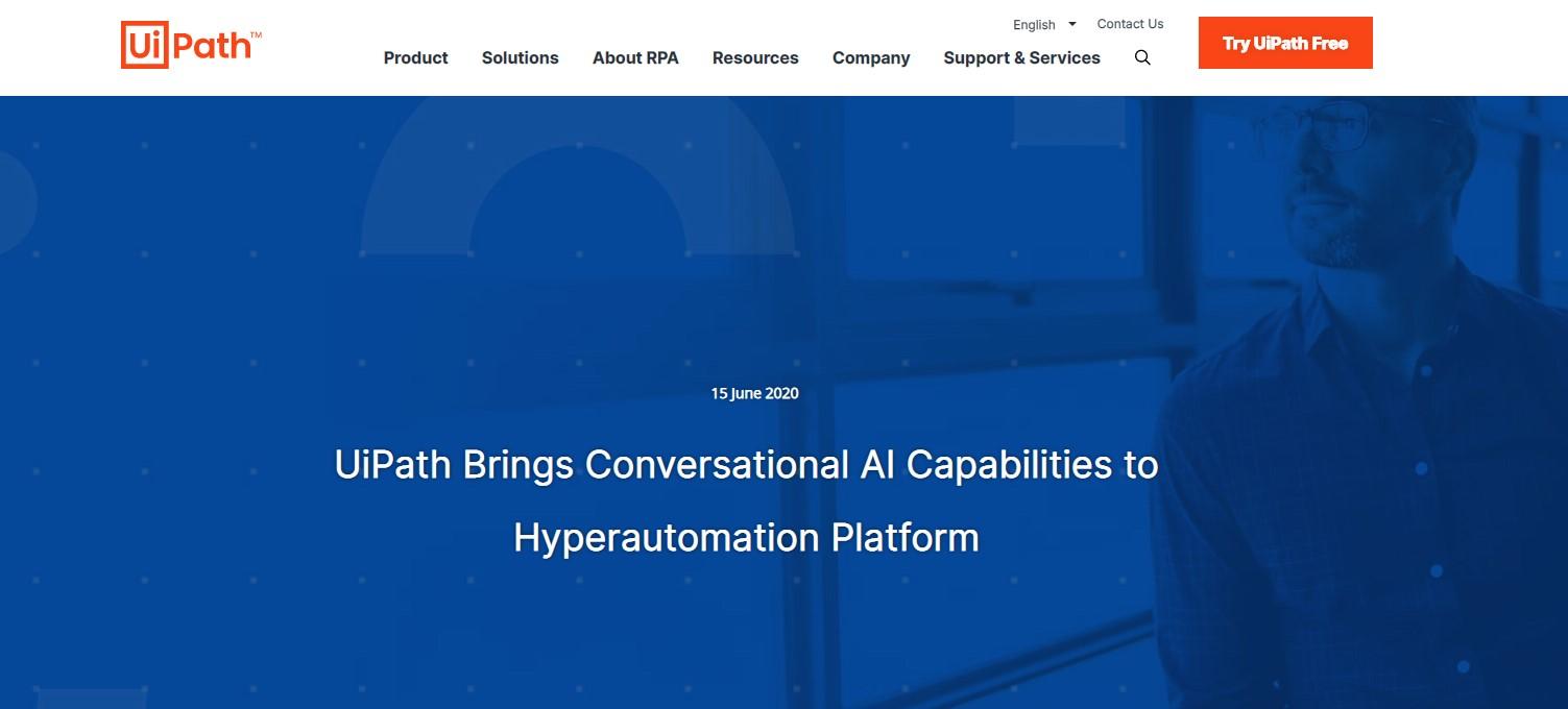 """UiPath推出业内首个AI对话式超级自动化平台"""""""