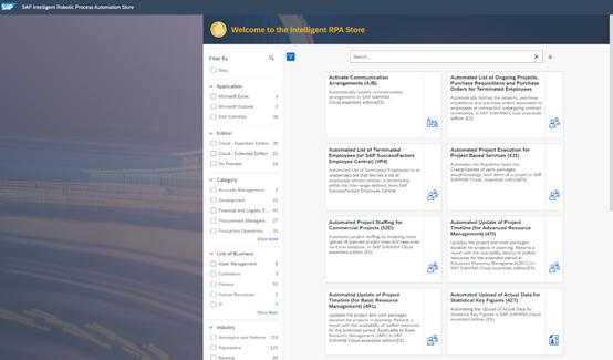 SAP ERP大更新:RPA、智能自动化、自动机器学习,成为重点